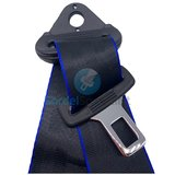Autogordel Zwart met blauwe rand / Veiligheidsgordel 3 puntsgordel, 1 dag levertijd, Type A _