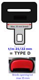 Gordelverlenger, E4 onderdelen, 1 dag levertijd, Verstelbaar type D gordel verlenger_