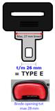 Gordel verlenger mini Type E