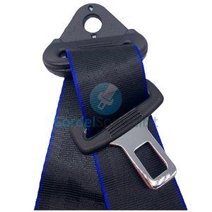 Autogordel Zwart met blauwe rand / Veiligheidsgordel 3 puntsgordel, 1 dag levertijd, Type A