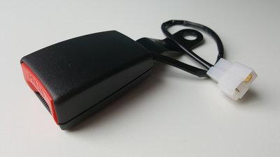 Autogordel Receiver 1 type:A (21mm) met E4 (kwaliteitskeurmerk) met alarm